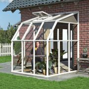 6'x6' Palram Rion White Lean to Greenhouse