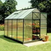 6'x8' Halls Green Frame Polycarbonate Greenhouse
