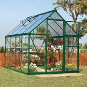 6'x8' Palram Hybrid Walk In Green Polycarbonate Greenhouse