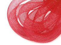 7 red, 25m Crinoline Mesh Tubing Plastic Net Thread Cord Ø10mm And Other Tubes Milliner Necessities Haberdashery