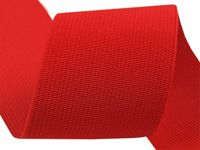 7502 Fiery Red, 25m Woven Coloured Elastic Tape Width 50mm Knit Haberdashery