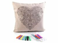8 as pictured, 1pc As Pictured Diy Art Coloring Pillow Cover Cushion Covers Home Furnishing And Accessories Decorations