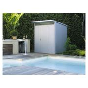 8' x 5' Biohort HighLine H2 Silver Metal Shed with window skylight (2.52m x 1.72m)