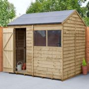 Forest 8X6 Overlap Pressure Treated Reverse Apex Shed With Optional Installation - Shed Only One Colour