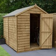 Forest 8X6 Overlap Pressure Treated Apex Shed With Optional Installation - Shed Only One Colour