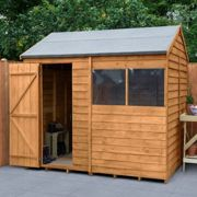 Forest Overlap Dip Treated 8x6 Reverse Apex Shed natural