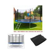 8FT 6 Poles Trampoline Replacement Safety Net Enclosure Surround