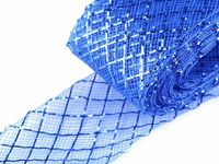 9 CC28 blue, 28m Diamond Crinoline Horsehair Braid Width 4cm (soft) And French Veils Milliner Necessities Haberdashery