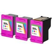 999inks Compatible Tri-Colour HP 304XL High Capacity Inkjet Multipack (3 Tanks + 1 Printhead)
