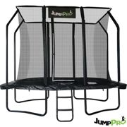 9ft x 6ft JumpPRO™ Black Rectangular Trampoline with Enclosure