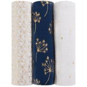 aden + anais Classic Swaddle 3-Pack Metallic Gold Deco