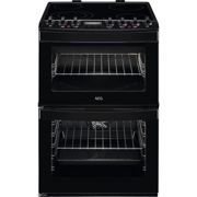 AEG 60cm Double Oven Electric Cooker - Black