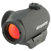 Aimpoint Micro H-1 2moa With Weaver Mount One Size Black