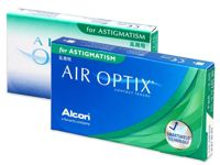 Air Optix for Astigmatism Power: +6.00, BC: 8.70, DIA: 14.50, cylinder: -0.75, axis: 10°