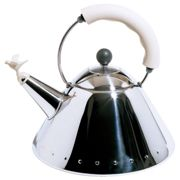 """Alessi - Kettle 9093 W """"Bird Kettle"""", polished / white"""