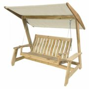 Alexander Rose Pine Farmers Swing Seat with Canopy