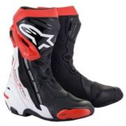 Alpinestars Supertech R Motorcycle Boots, Black/red/white