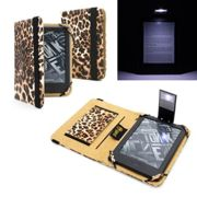 """Amazon Kindle E-Reader with Touch 6"""" Leopard Case Cover with LED Light"""