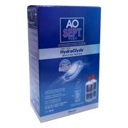 AOSept Plus with HydraGlyde Twin Pack (2x360ml), Contact Lens Solution, Includes Lens Case