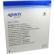 AQUACEL Foam nicht adhsiv 20x20 cm Verband 5 units