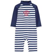 Archimede - Boris Combi Uv Swimming Costume - 3 - 6 Months / Navy Stripes - Blue