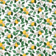 Arvidssons Textil Citronlycka oilcloth white