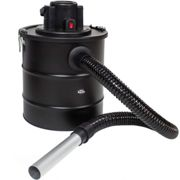 Ash vacuum cleaner 1200 W, metal suction hose + filter - black