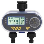 vidaXL Automatic Digital Water Timer with Dual Outlet
