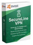 Avast SecureLine VPN, 5 Devices 1 Device / 1 Year