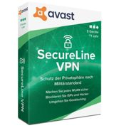 AVG Secure VPN 2020, 1-2 years, download 5 Devices 1 Year