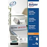 Avery C32253-25 Place Cards 110 x 40 mm 185gsm White Pack of 100