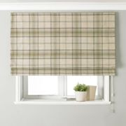 Aviemore Natural Roman Blind Beige, Brown and Black