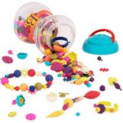 B. Toys BX1254Z Pop Beads Jewelry Making Kit for 4, 5, 6, 7 Year Old Girls BPA Free Arty-300 pcs, Multi-Colour