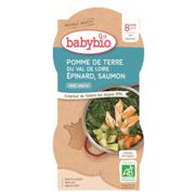 Babybio Dish of the Day Bowl Potato Tomato Mushroom & Veal from 8 months 2 x 200g