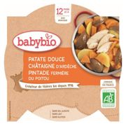 Babybio Dish of the Day Sweet Potato, Chestnut & Guinea Fowl 12 Months+ 230g
