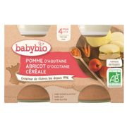 Babybio My Fruit Pot Apple Apricot & Cerals from 4 months 2 x 130g