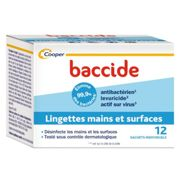Baccide Hand and Surface Wipes 12 individual wipes