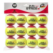 Balls Unlimited Stage 3 12 Pack , Colour: red , Size: nosize