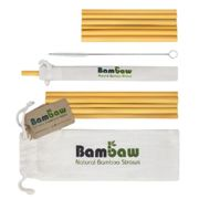 Bambaw Bamboo Straws with Cotton Pouch - 12x 14 cm & 22 cm