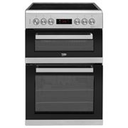 Beko KDC653S Freestanding 60cm Double Oven Electric Cooker-Silver