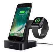 BELKIN PowerHouse 3.4A DUAL Charge Dock for Apple Watch and iPhone - Black - F8J200vfBLK