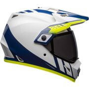 Bell Mx-9 Adventure Mips S Dash Gloss White / Blue / High Visibility Yellow