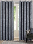 Belle Maison Lined Eyelet Curtains, Nova Range, 46x90 Charcoal