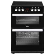 Belling Cookcentre 60E Electric Cooker with Ceramic Hob - Black - A/A Rated