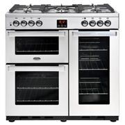 Belling Cookcentre 90DFTPROFSTA 90cm Dual Fuel Range Cooker-Professional Stainless Steel