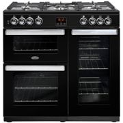 Belling Cookcentre 90DFTBLK 90cm Dual Fuel Range Cooker-Black