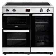 Belling Cookcentre 90EIPROFSTA 90cm Electric Induction Range Cooker-Professional Stainless Steel