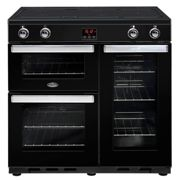 Belling Cookcentre 90EIBLK 90cm Electric Induction Range Cooker-Black
