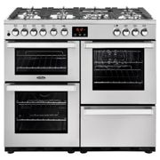 Belling 444444081 CookCentre Professional 100cm Dual Fuel Range Cooker - Stainless Steel