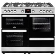 Belling Cookcentre100G 100cm 7 Burners A/A Gas Range Cooker Stainless Steel New